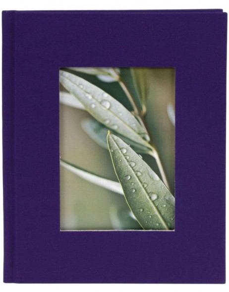 mini photo album BELLA VISTA purple for 12 photos