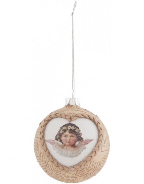 Clayre eef nostalgische weihnachtskugel 8 cm fotoalben for Nostalgische weihnachtskugeln