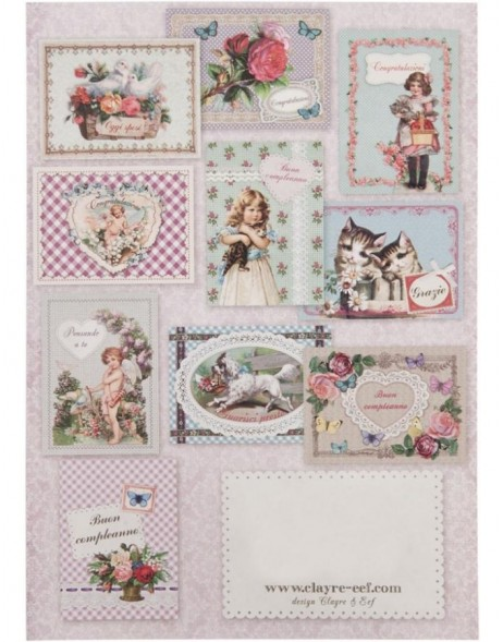 nostalgic set of cards 10 pieces Italian