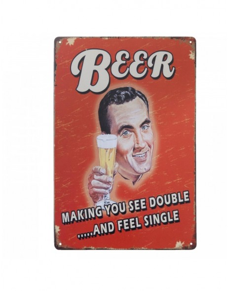 nostalgic tin-plate sign BEER