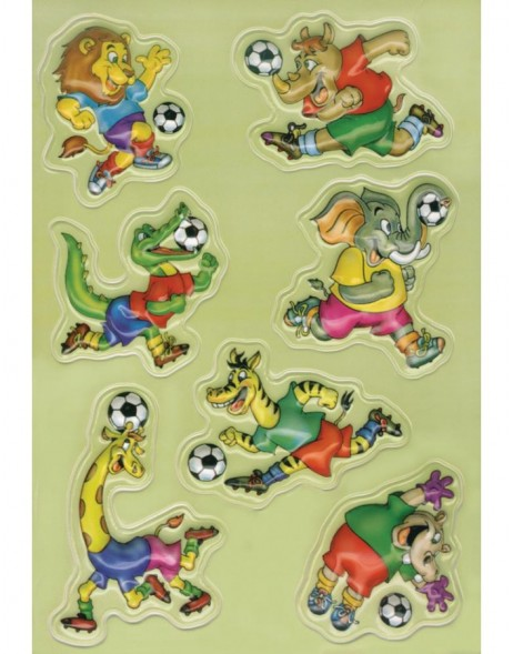 3D-Sticker SOCCER ANIMALS - MAGIC, self adhesive
