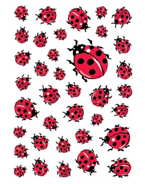 decorative labels Ladybug - DECOR