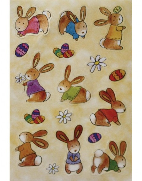 decorative labels MAGIC Babyhaeschen silk 1 sheet