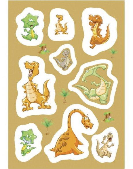 decorative labels MAGIC Dinos 1 sheet