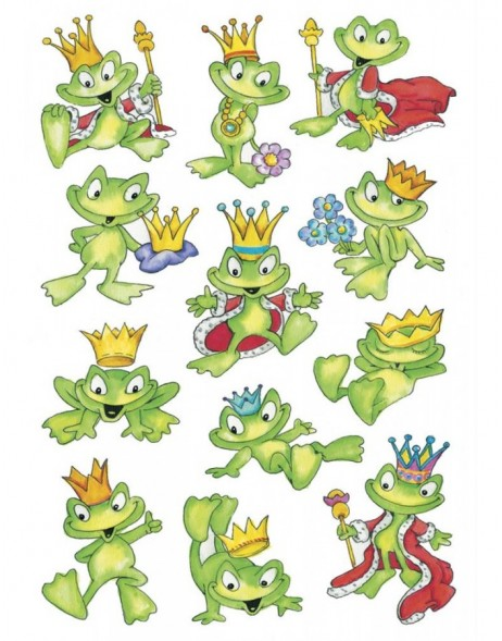 decorative labels DECOR Froschkönig 3 sheets