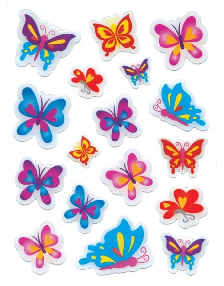 decorative labels MAGIC Schmetterlinge 1 sheet