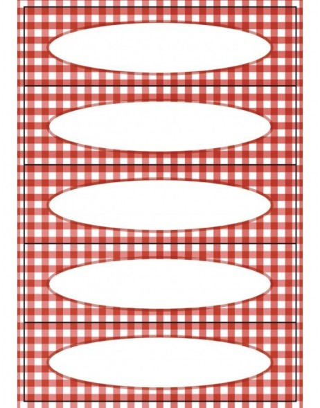 Self adhesive labels Chequer DECOR
