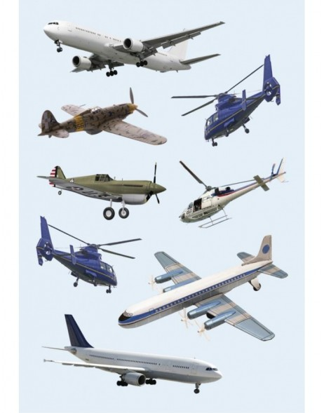 decorative labels Airplanes & Helicopters - DECOR