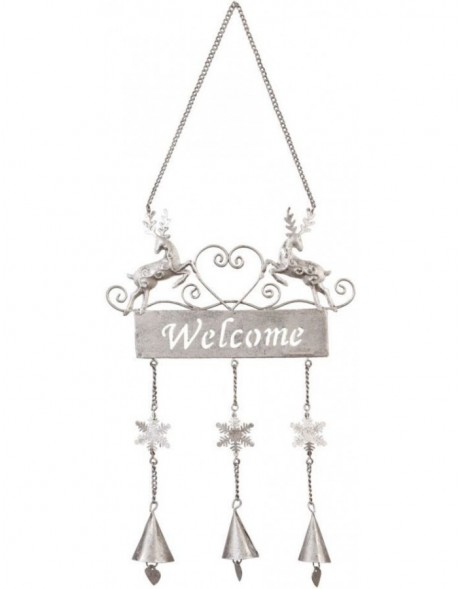 Christmas doorplate Welcome 17x40 cm