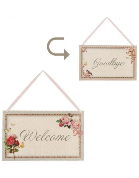 two-sided doorplate WELCOME