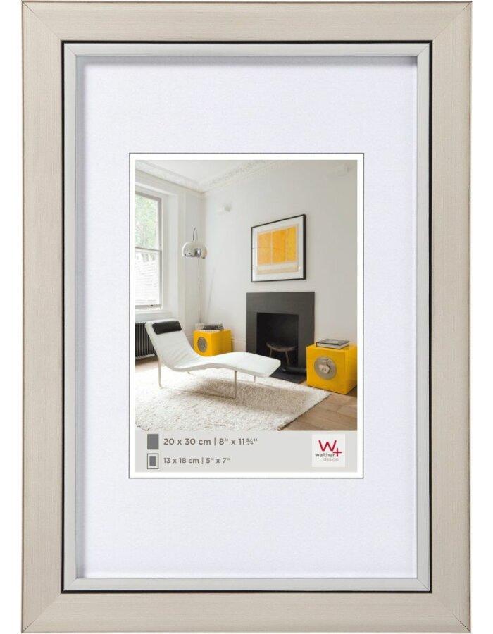 Walther Metro Polystyrol Rahmen 20x30 cm stahl | fotoalben-discount.de