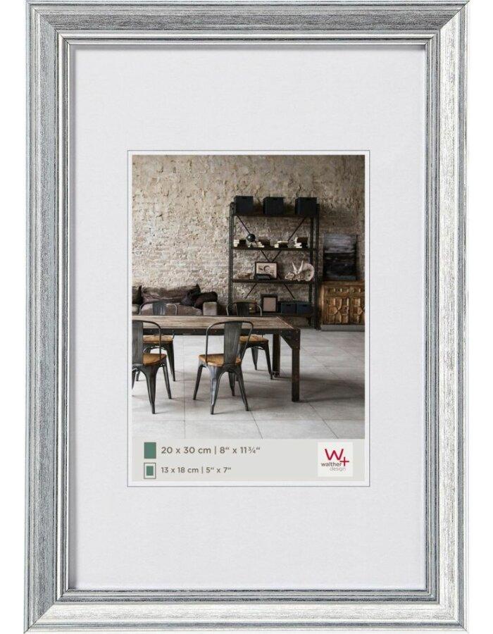 Walther Lounge Bilderrahmen silber 13x18 cm | fotoalben-discount.de