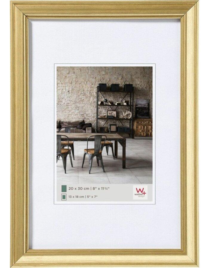 Walther Lounge Bilderrahmen gold 20x30 cm | fotoalben-discount.de
