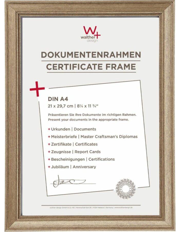 Walther Lounge Bilderrahmen stahl 21x29,7 cm | fotoalben-discount.de