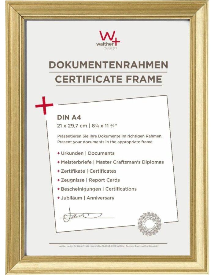 Walther Lounge Bilderrahmen Gold 21x297 Cm Fotoalben Discountde