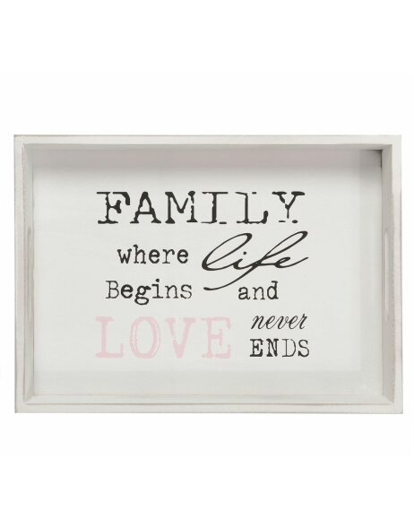 Holz-Tablett FAMILY 35x25 cm
