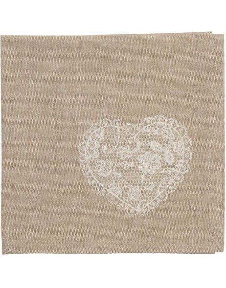 Stoff-Servietten Lace with Love 6 Stück 40x40 cm