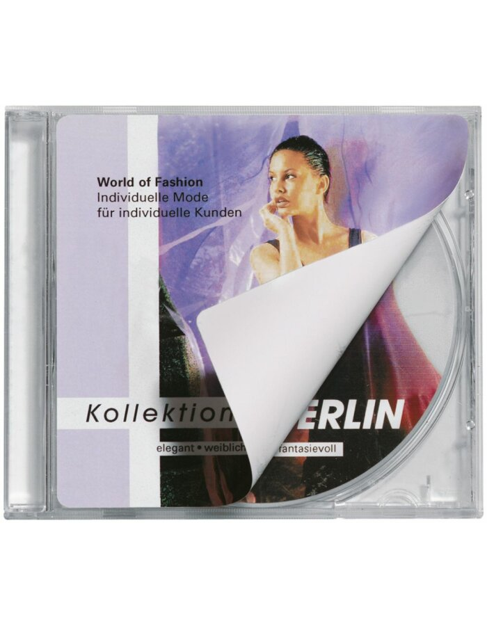 CD-Cover-Etiketten A4 weiß 121,5x117,5 mm Papier matt 50 St.