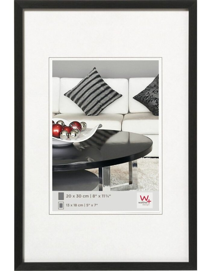 Din A4 Bilderrahmen 21x30 mit Aluminiumrahmen und schmaler Leiste