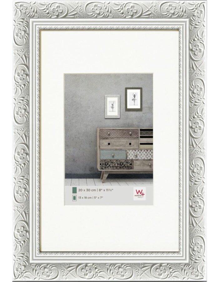 BAROCK Rahmen 15x20 cm weiß Holz Walther | fotoalben-discount.de