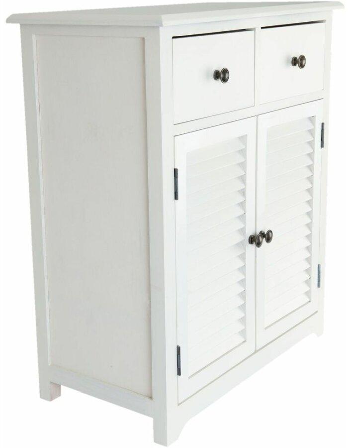 5H0285 Clayre Eef weißer Holzschrank mit Doppeltür