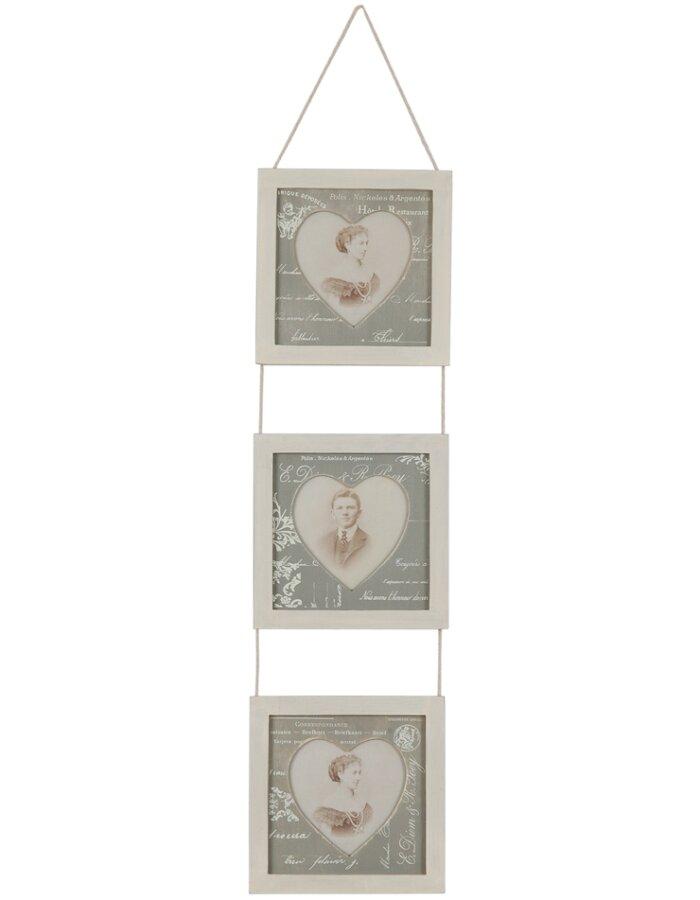 Clayre Eef 2803G antike Rahmen Galerie 3x 8x9 cm grau | fotoalben ...