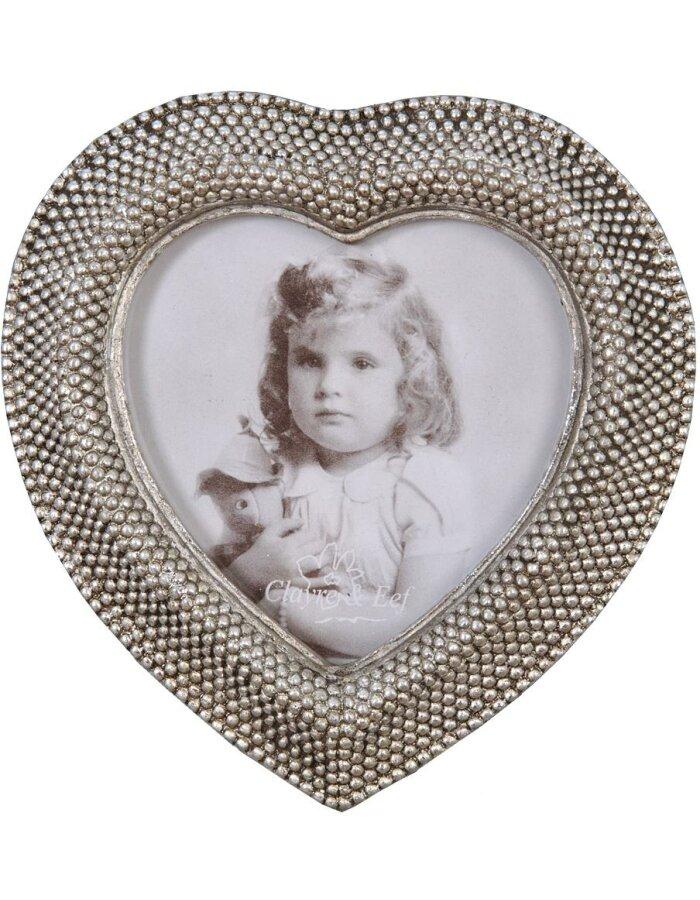 Clayre Eef 2940 Herz Bilderrahmen antik silber 8x8 cm | fotoalben ...