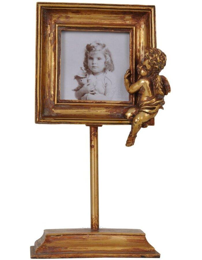 Clayre Eef 2950 quadratischer Rahmen barock gold Engel 8x8 cm ...