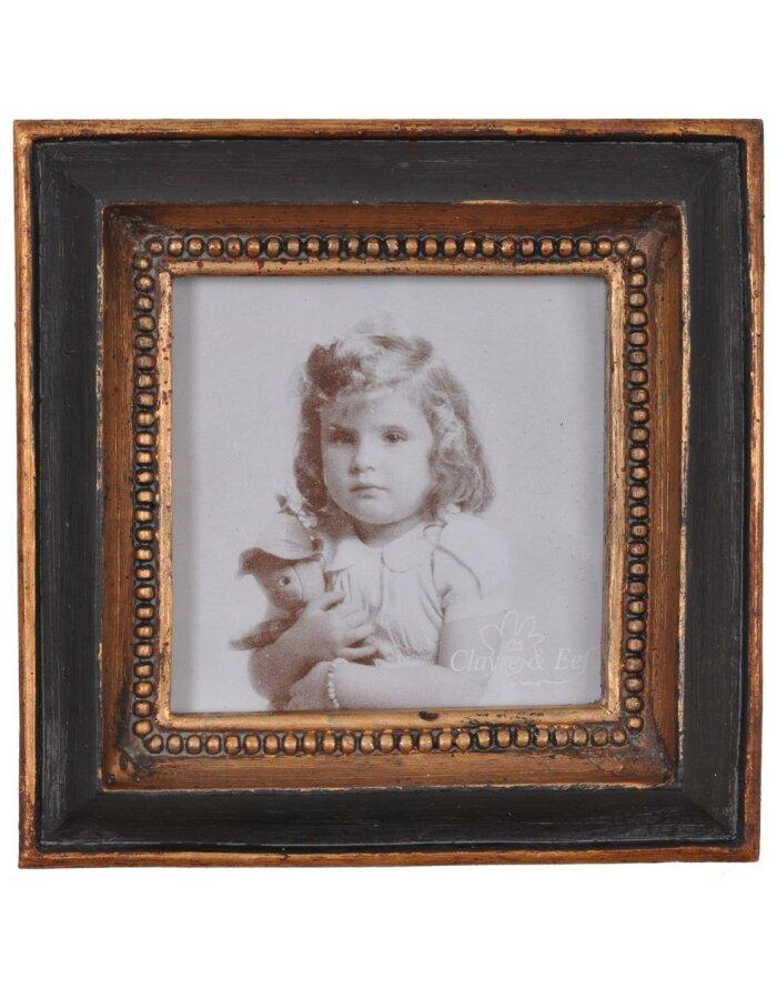 Clayre Eef 2959 Barock Rahmen quadratisch schwarz gold 8x8 cm ...