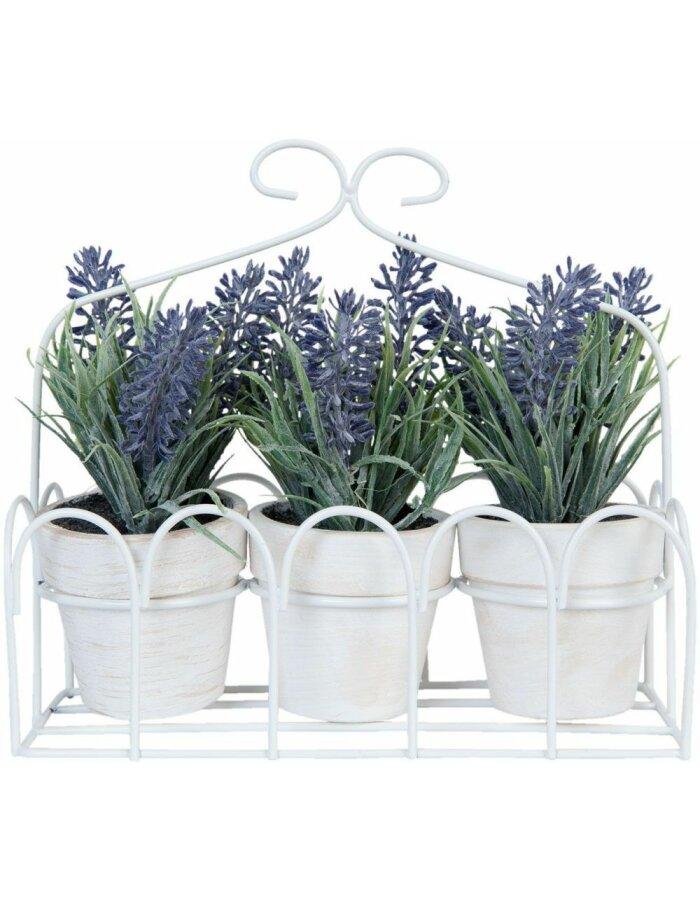 Lavendel-Dekoration - 6PL0186 19x8x17 cm von Clayre & Eef
