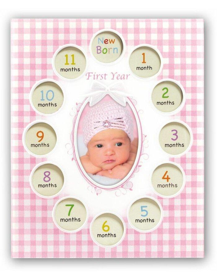 Baby-Bilderrahmen Felipe rosa | fotoalben-discount.de