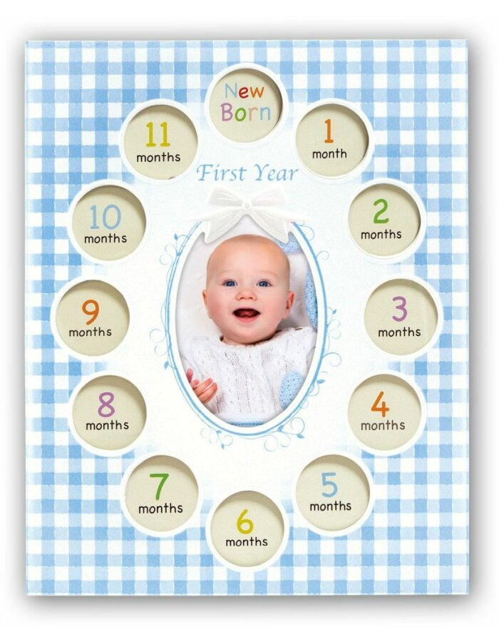 Baby-Bilderrahmen Felipe blau | fotoalben-discount.de