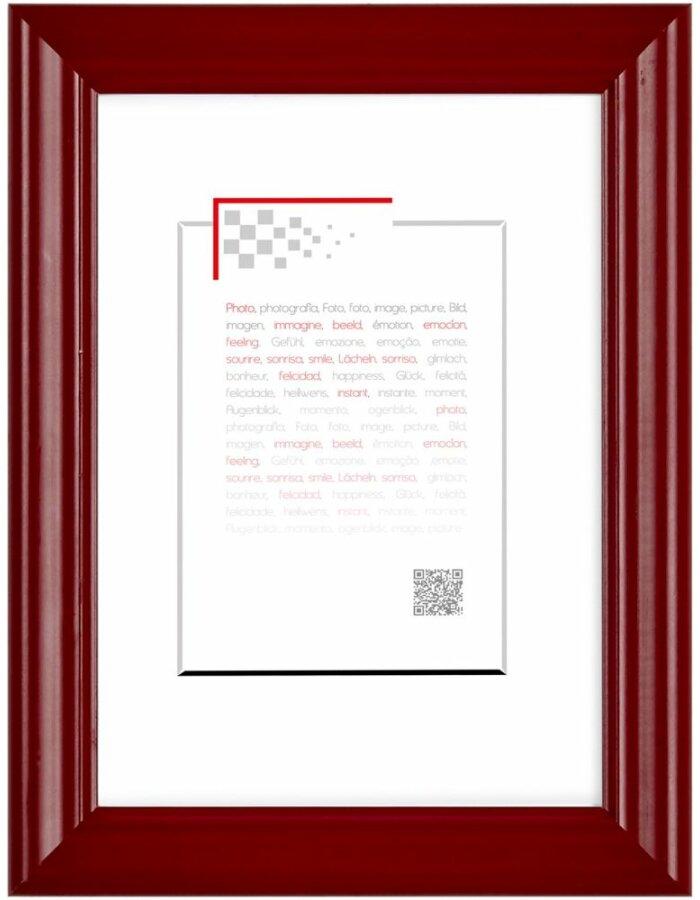 Holzrahmen Circee 60x80 cm rot Brio | fotoalben-discount.de
