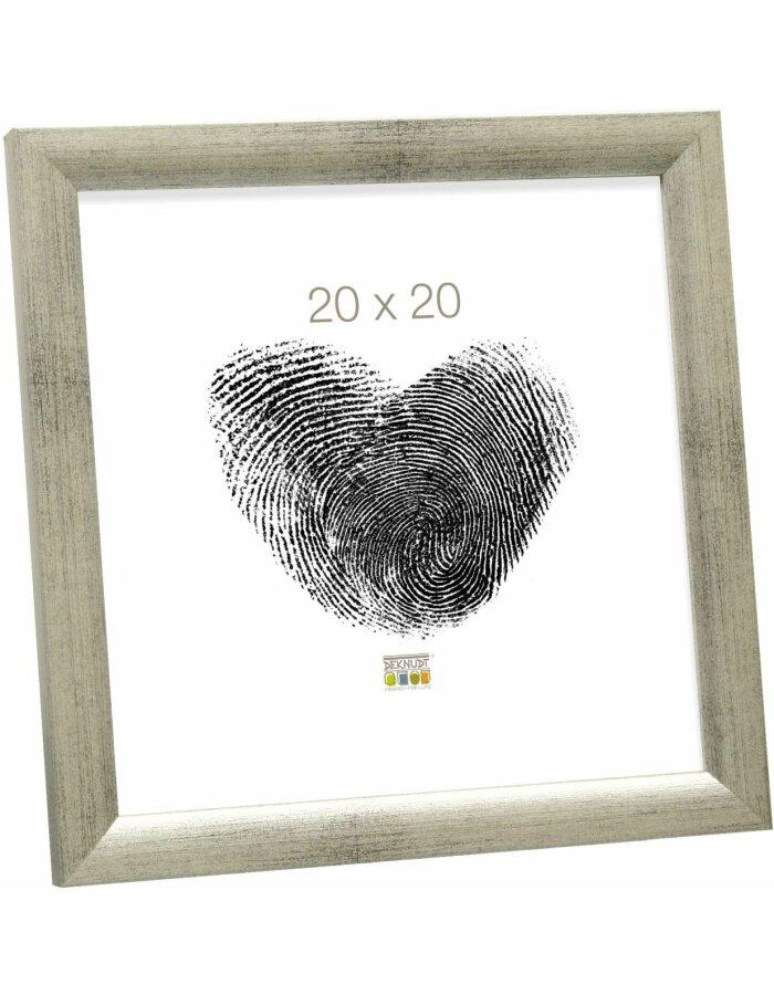 S54SD7_40,0x60,0 Bilderrahmen silber Holz 40,0 x60,0 cm