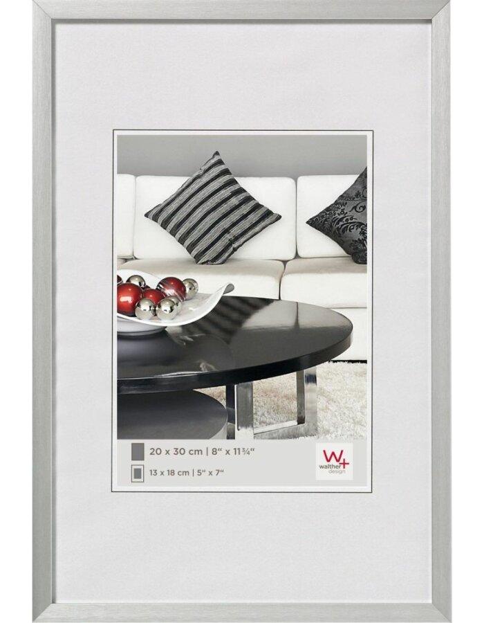 Walther Aluminium Rahmen 18x24 cm silber | fotoalben-discount.de