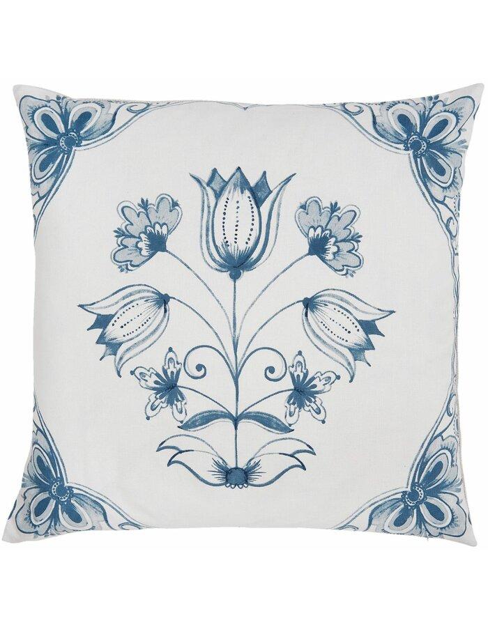 Kissenhülle FLORAL 50x50 cm blau CHA30