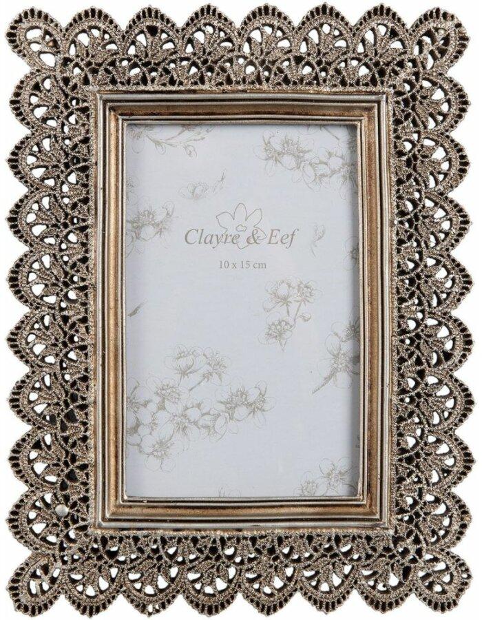 Fotorahmen 10x15 cm - 2F0455 Clayre Eef in bronze