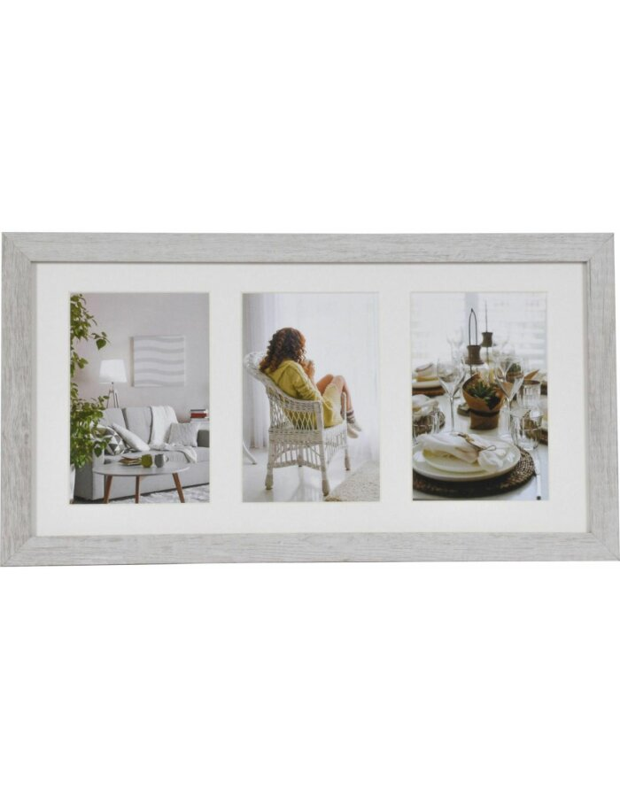Fotogalerie Modern 20x40 cm weiß 3 Fotos 10x15 cm