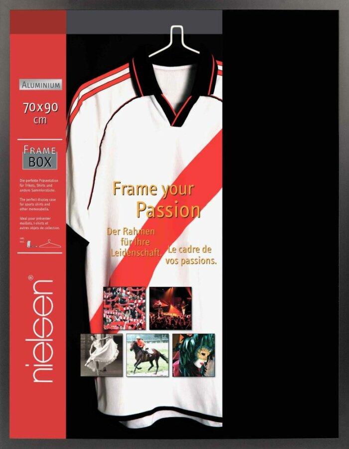Nielsen T-Shirt-Rahmen 70x90 cm eloxal schwarz Acrylglas
