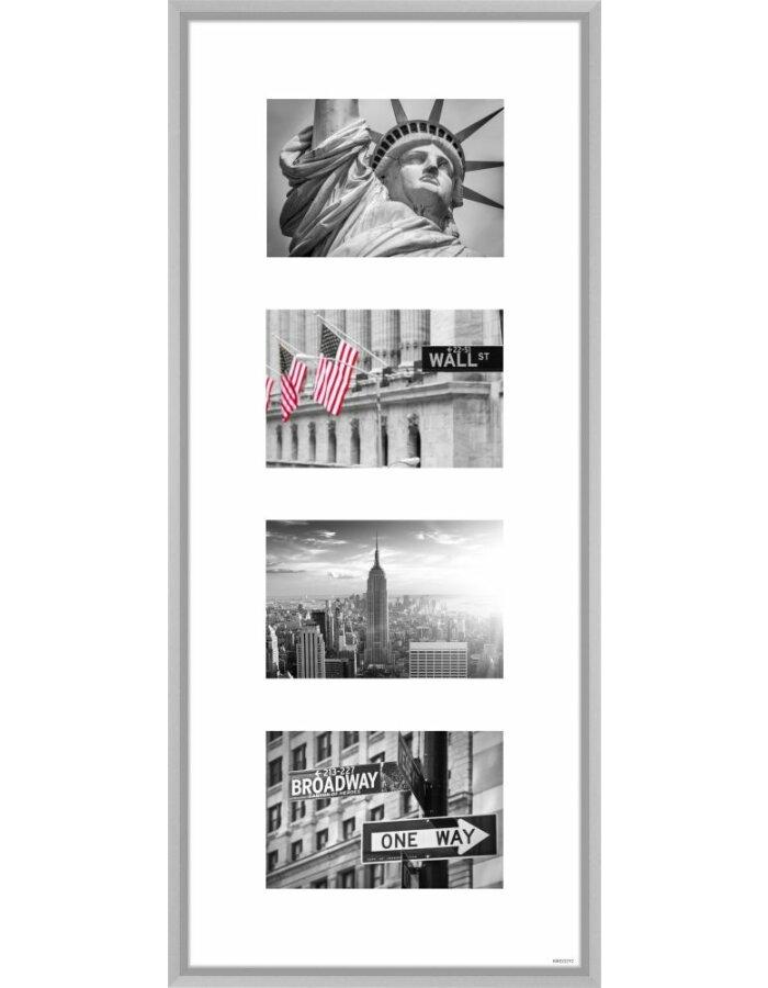 Nielsen Alurahmen Gallery Junior silber 4 Fotos 10x15 cm