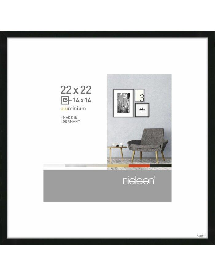 Alurahmen Pixel 22x22 cm schwarz | fotoalben-discount.de
