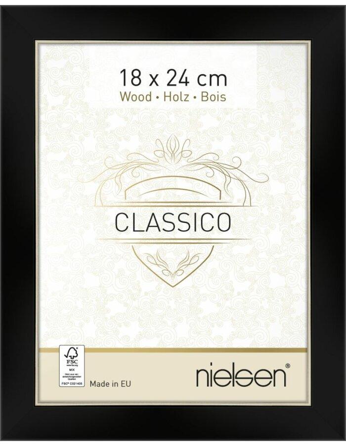 Nielsen Holz Bilderrahmen Classico 18x24 Cm Schwarzsilber