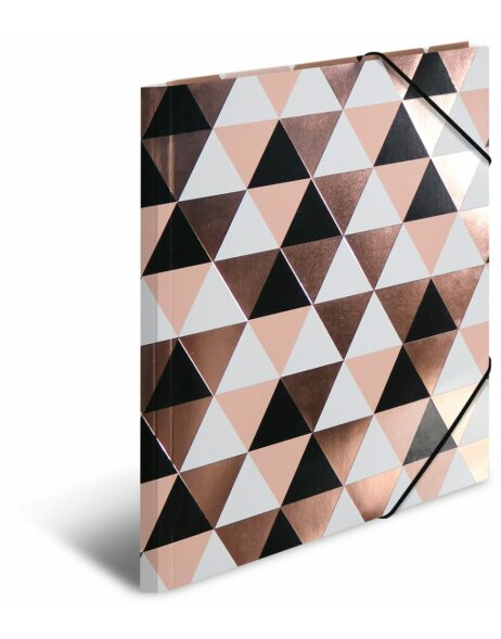 Herma Sammelmappe A4 Pappe Rosegold Abstract
