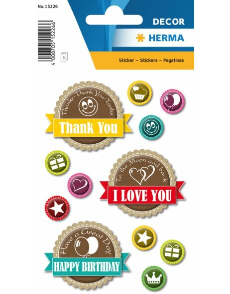 Herma DECOR Sticker Happy Day