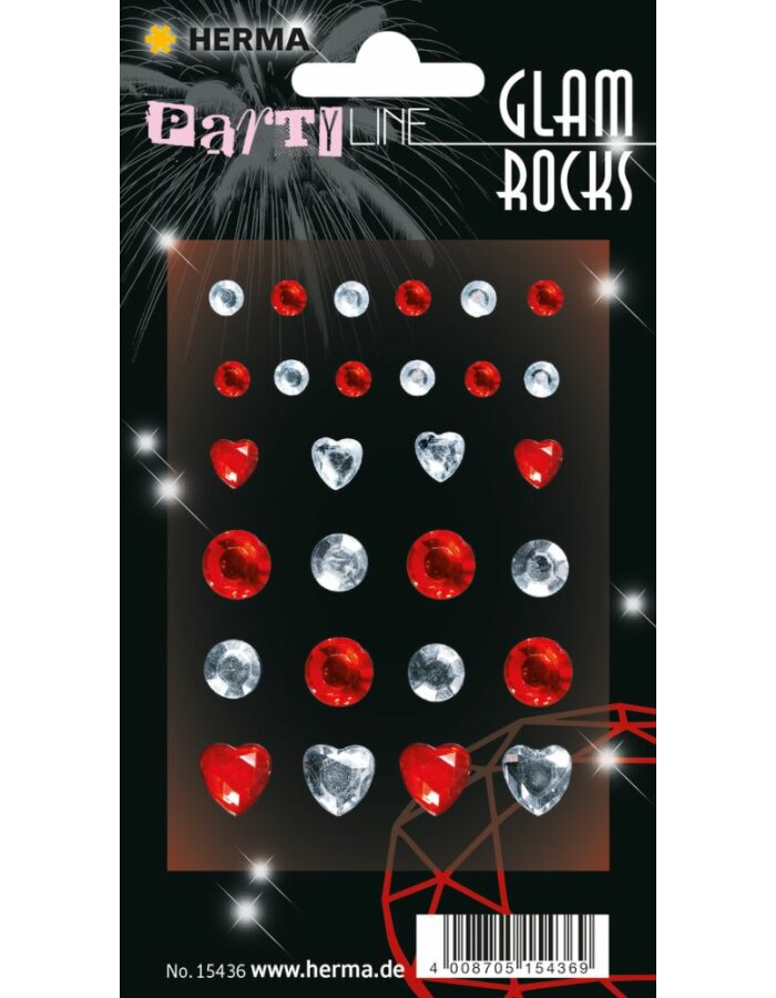 Herma FASHIONLine Glam Rocks Diamonds Red & Silver