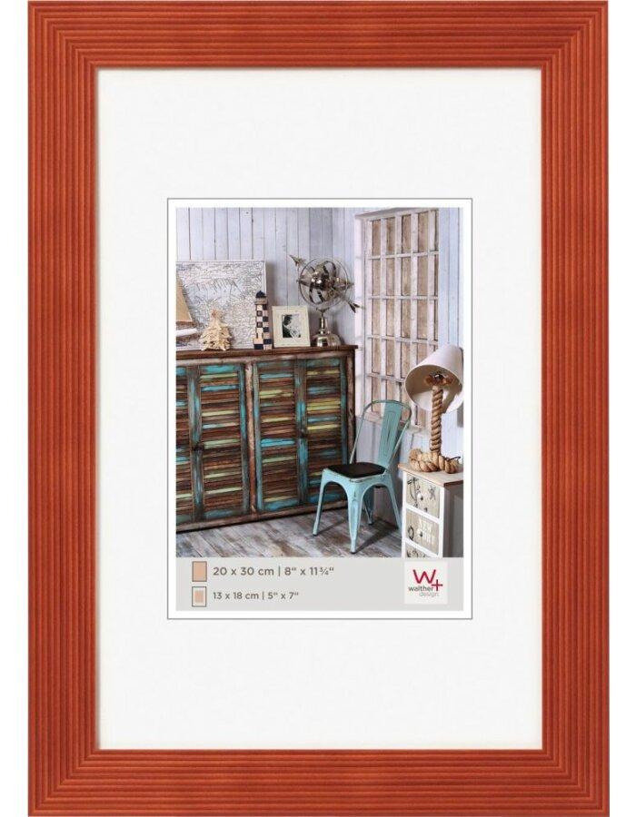 Holz Bilderrahmen 13x18 cm in apricot Walther | fotoalben-discount.de