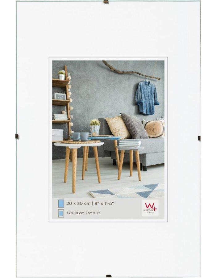 Walther Rahmenloser Bildhalter Antireflexglas A3 | fotoalben-discount.de