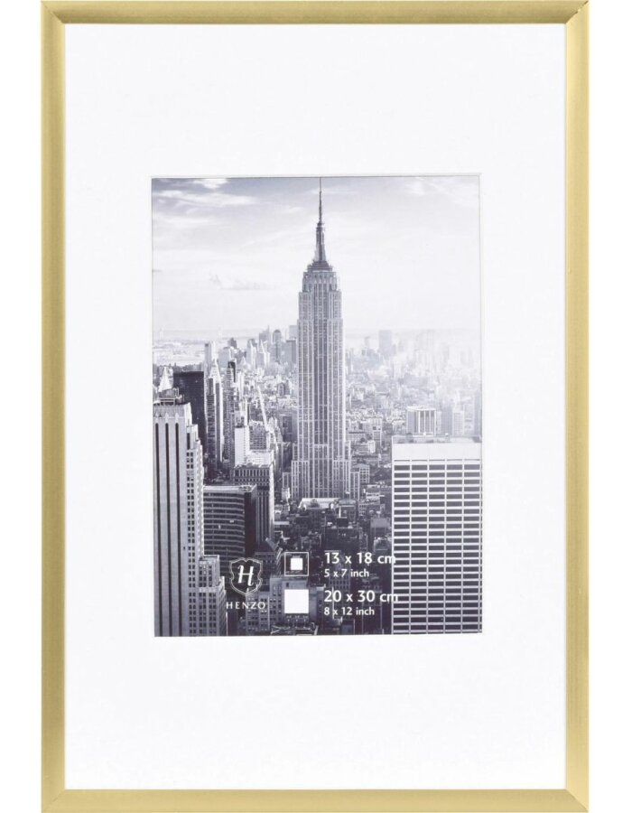 20x30 cm Bilderrahmen Aluminium Manhattan in gold