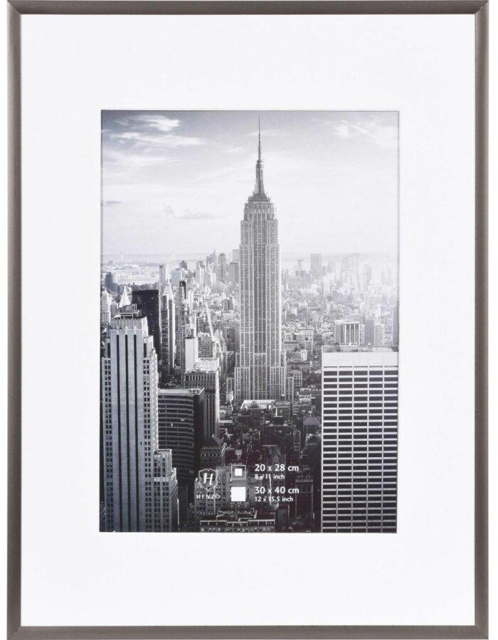 30x40 cm Bilderrahmen Aluminium Manhattan in stahl-grau   fotoalben ...