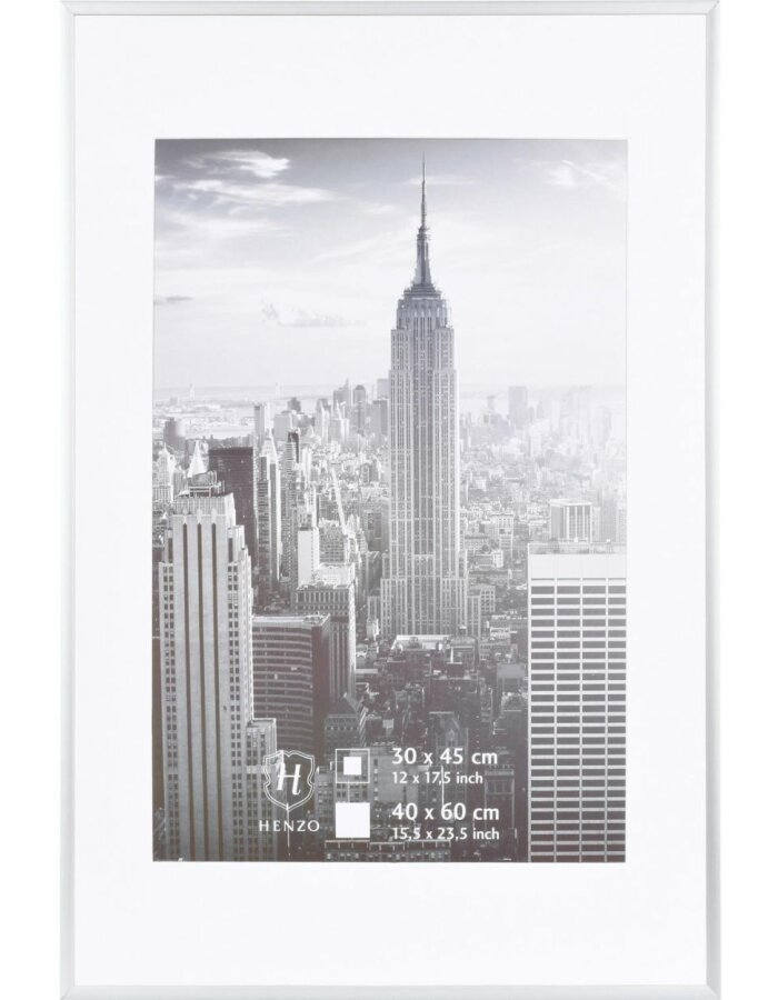 Manhattan Bilderrahmen 40x60 cm silber Alu | fotoalben-discount.de